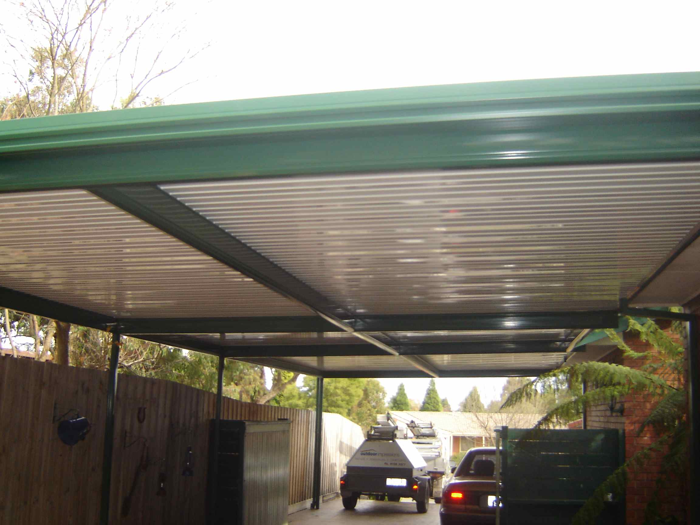 Flat Roof Metal Carports http://www.outdoorimpressions.com.au/products/carports/