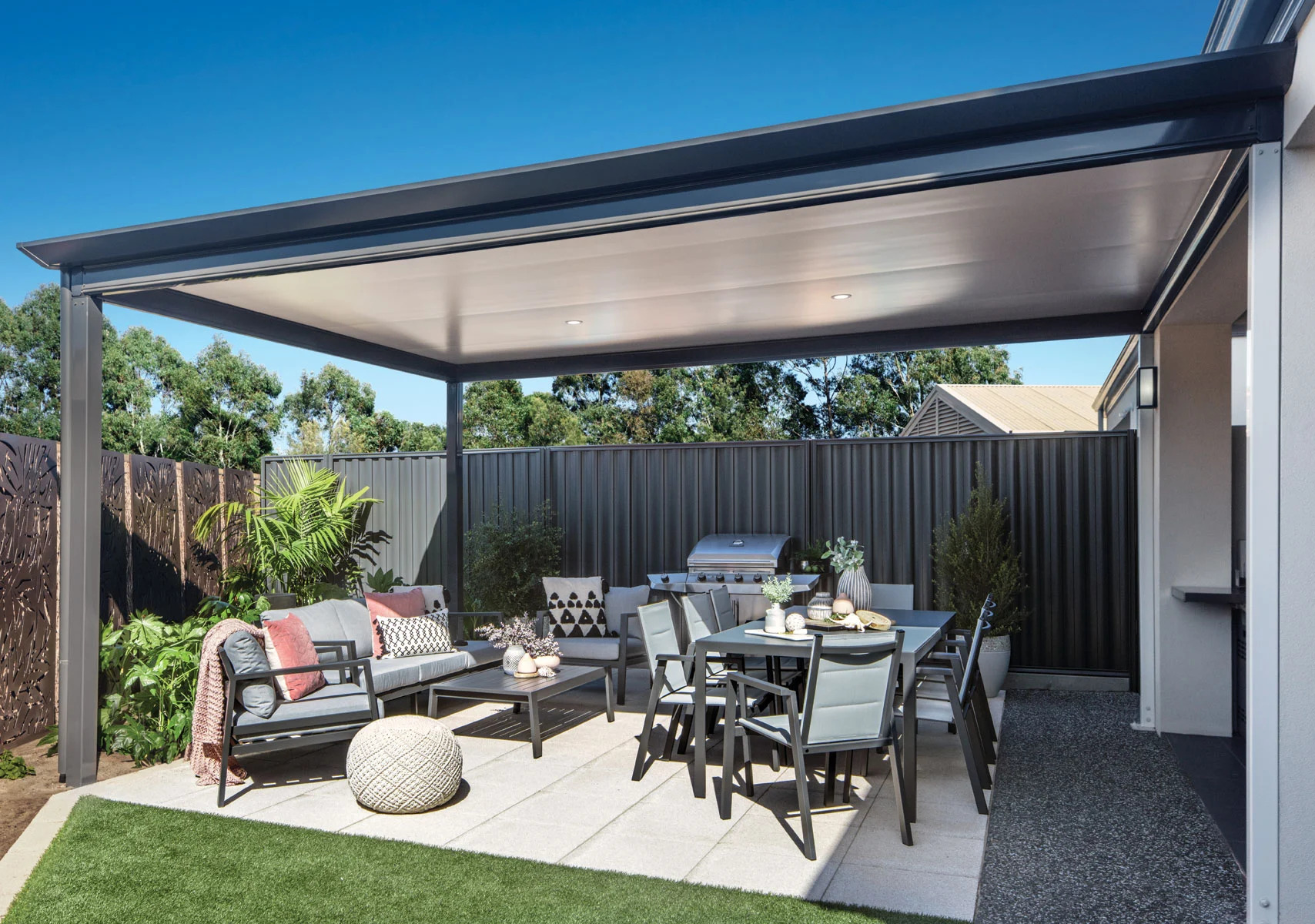 Use strategic patio furniture