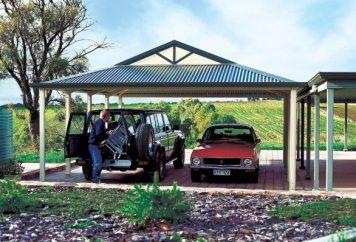spacious carport