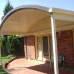 clearspan curved roof with no front beam