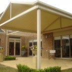 gable with pergola attached