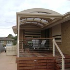 merbau deck with curved roof