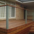 merbau deck with stainless balistrade
